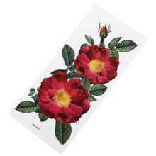 Яркая Цветочная наклейка для татуировки Водонепроницаемая Гигроскопическая прочная Женская благородная популярная Цветочная наклейка на грудь тонкая татуировка