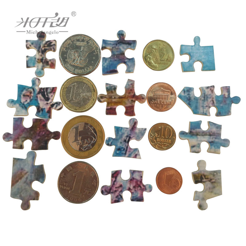Michelangelo Wooden Jigsaw Puzzle Padmasambhava Refuge Field Nyingm Lineage Tibetan Buddhist Thangka Painting Collectibles Decor in Puzzles from Toys Hobbies