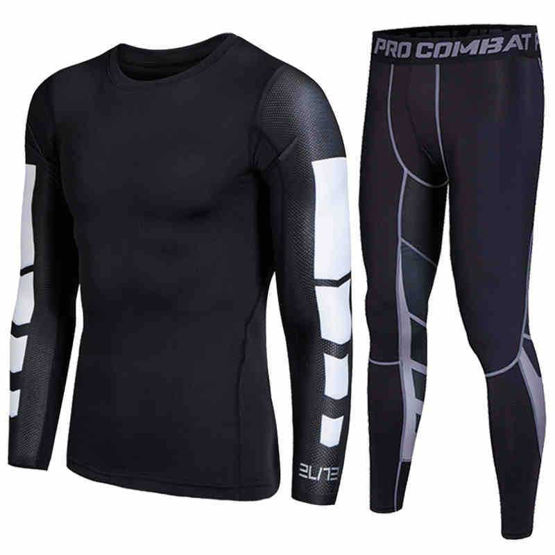 Men Pro Compression Long Johns Fitness Winter Quick Dry Gymming Male Autumn Sporting Sets Runs Workout Spring Thermal Underwear