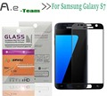 NEW Full Tempered Glass For Samsung Galaxy S7 Smartphone 2.5D+9H Anti-explosion Full Cover Screen Protector Film For Galaxy S7