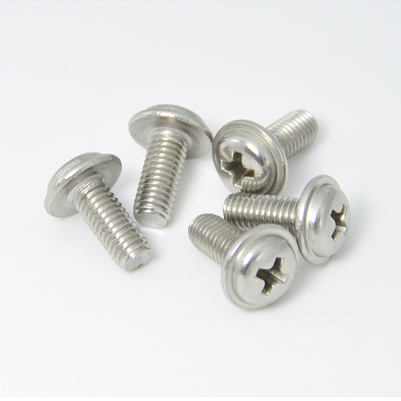 20PCS M2 M2.5 M3 M4 M5  DIN967 Nickel Plating Cross Recessed Pan Head Screws With Collar For Computer Floppy DVD ROM Motherboard