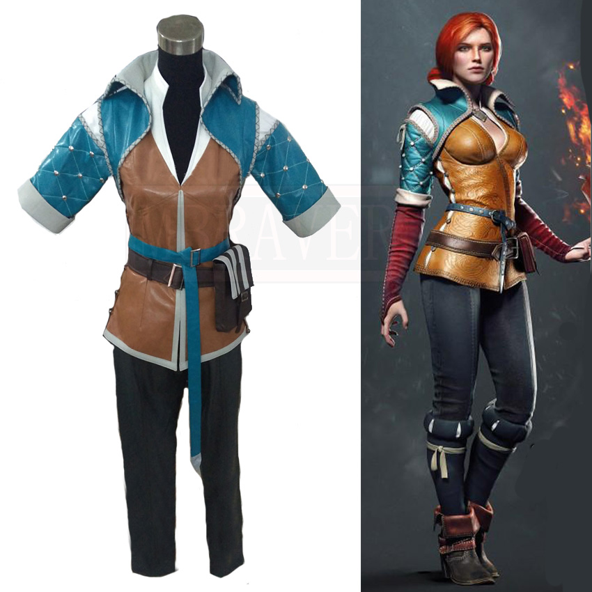 The Witcher 3: chasse sauvage Triss Merigold Cosplay Costume sur mesure toute taille
