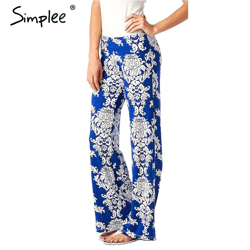 New Summer Women Pants Casual Long Wide Pants Floral Classic Exuma Pant