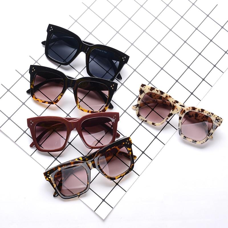 New Black Clear Oversized Square Sunglasses Women Gradient Summer Style Classic Sun Glasses Female Big Square Oculos De Sol