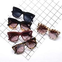 New Black Clear Oversized Square Sunglasses Women Gradient S