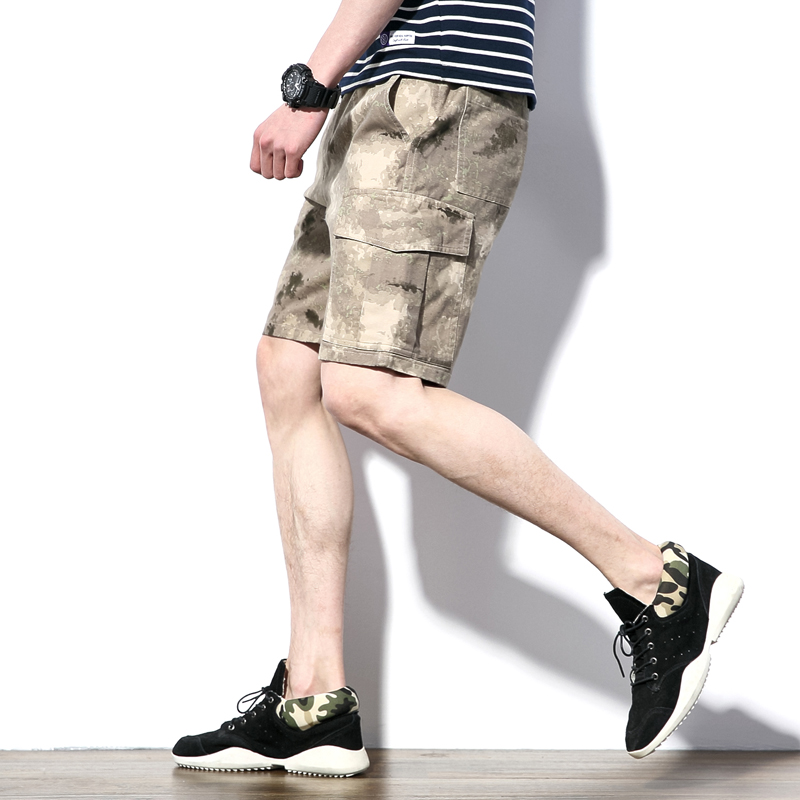 M-5XL summer plus size Elastic baggy men bermuda short casual cargo shorts men Cotton 96% Spandex 4% summer shorts men