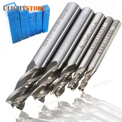 5pcs! Mill Cutter Drill Bit Set HSS Straight Shank 4 Flute End Drill Bits Tool 4 6 /8 10 12mm for CNC Milling Machine