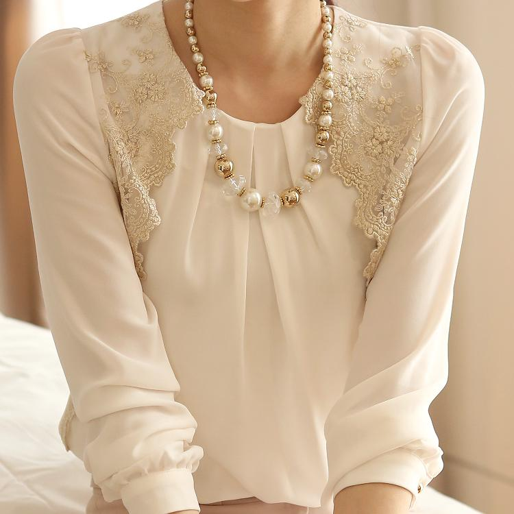 font b Blouse b font Promotion Time limited Full O neck Solid Cotton Blusas 2014