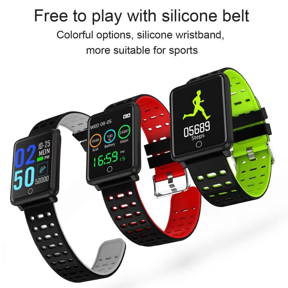 MNWT スマートスポーツ腕時計 IP68 防水腕時計男性 & 女性スマートデジタルブレスレットスマートウォッチ電話通話リマインダー
