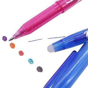 Image 4 - Stylo ou recharges à bille effaçable, 80 pièces, stylo à bille, encre de couleur, 0.5mm, stylo Gel à base deau, papeterie