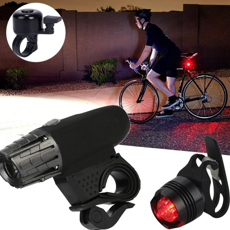 USB Rechargeable LED Bike Bicycle Cycling Headlight Front Light Tail Rear Lamp Waterproof MTB Road Bell Horn Sound Alarm PJ5 1pcs bicycle fender with cycling glasses mtb mountain road bike mud guards fender front rear mudguard bike bicycle accessories