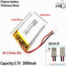 送料無料スモールプディング子供学習ストーリーマシン 103450 一般的な充電 3.7 v リチウムポリマー電池 2000 3000mah のバッテリー