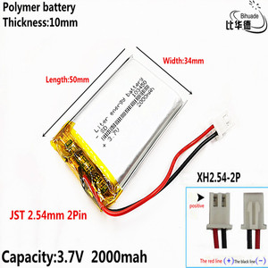 Free shipping Small pudding kid-learning story machine 103450 general charging 3.7 v lithium polymer battery 2000 mah batteries