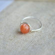 Sunstone Birthstone 925 Rings