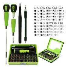 2016 Hot 53 in 1 Professiona Multi-Bit Precision Torx Screwdriver Tweezer Cell Phone Repair Tool screwdrivers Set for phone