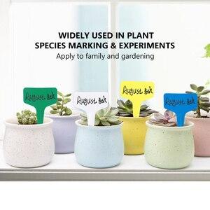 Image 3 - 100 Uds. En forma de T decoraciones de plástico en forma de I plantas de vivero de jardín flores en macetas etiquetas y etiquetas herramientas para identificación