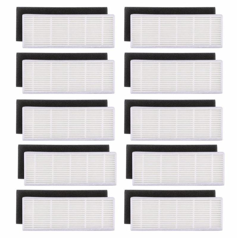 20 pz/lotto filtro HEPA e Filtri Spugna di ricambio per ilife A4s A6 A4 A40 polvere di pulizia del filtro di vuoto accessori cleaner