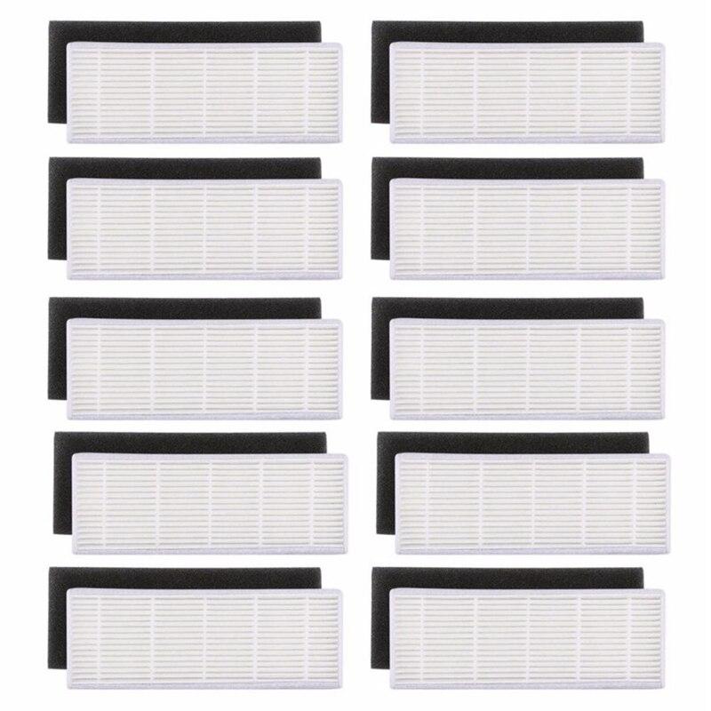 20 unids/lote filtro HEPA y esponja filtros reemplazos para ilife A4s A6 A4 A40 limpieza de polvo filtro aspirador Accesorios