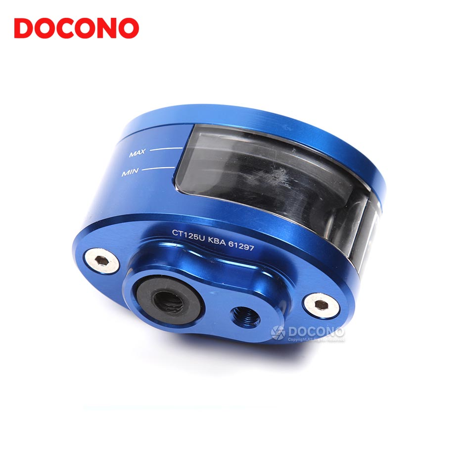 DOCONO Universal Motorcycle Front Brake Clutch Tank Cylinder Master Fluid Reservoir For Yamaha Kawasaki Honda Suzuki KTM BMW etc universal motorcycle brake fluid reservoir clutch tank oil fluid cup for mt 09 grips yamaha fz1 kawasaki z1000 honda steed bone