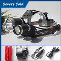 9000Lm DEL CREE XML T6 + 2R2 Lámpara Light 4-mode LED Linterna Del Faro Del Cabezal de La Antorcha + 2x4200 mAH 18650 batería + Cargador de CA y Cargador de Coche