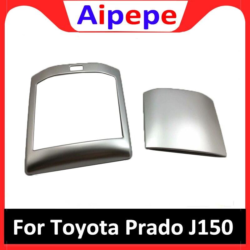 Accessoire de style de voiture pour Toyota LAND CRUISER PRADO 150 FJ150 2018 siège arrière panneau de coupe d'eau cadre garniture ABS Chrome autocollant