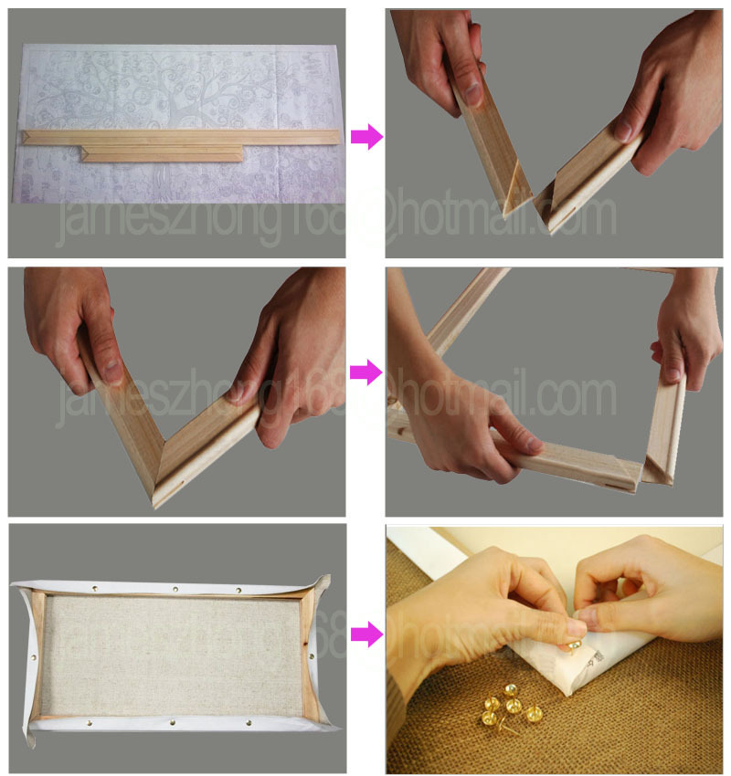 How To Make Wood Frame For Canvas Painting | Home Painting