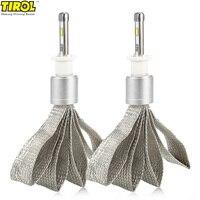 2Pcs Tirol Car LED Headlights H9 H11 Auto Front Bulb 360 Degree Beam 6000k Automobiles Headlamp