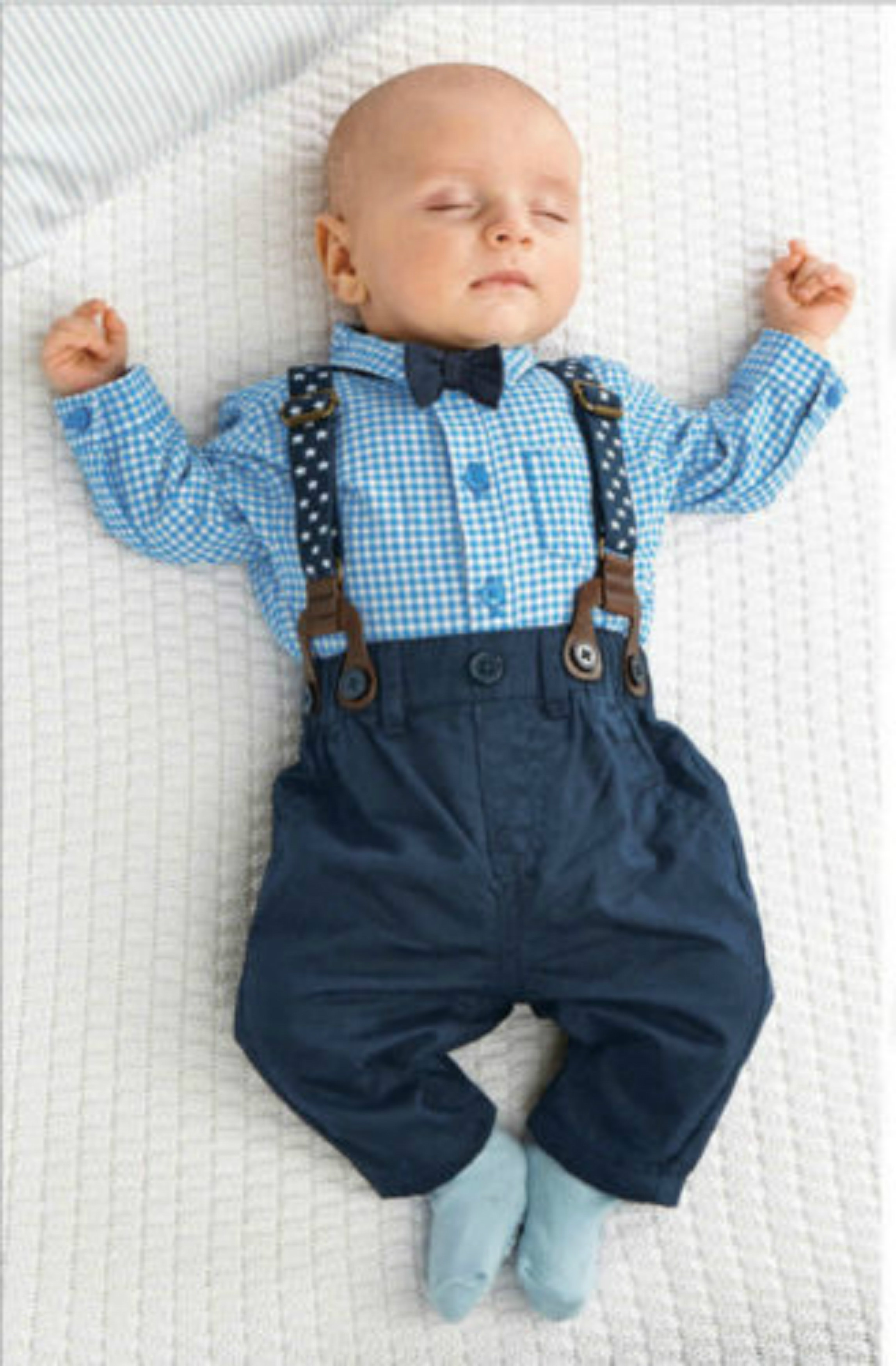 2PCS Kids Infant Baby Boys Plaid Shirt Suspender Pants Overalls ...