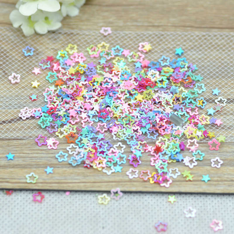 New Arrival 3mm Mixed Color Shining Hollow Rounded Corner Stars,Garment Sequins,Free Shipping