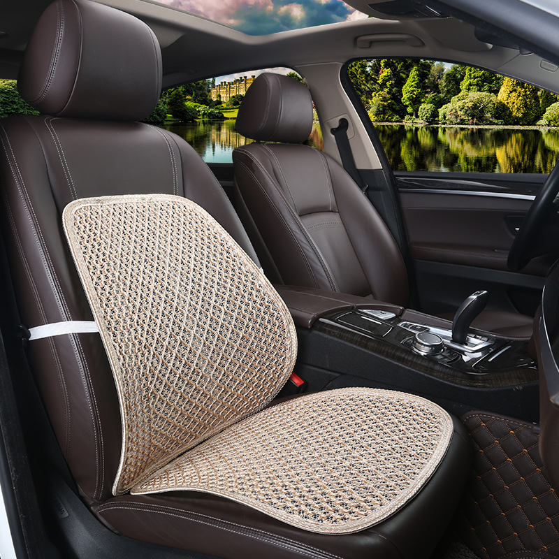 2pcs a set Summer Cool black Mesh Lumbar back cushion Support for Car Seat or Office Chair waist pillow cushion Pad