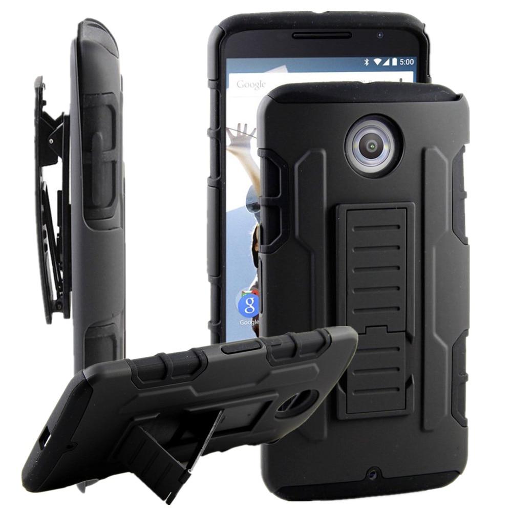 new style 78dc4 0f917 Belt Clip Holster Cover Hard Armor Case For Motorola Google Nexus 6 Cases  Stand Holder Phone Shell Skin Capa Coque Fundas