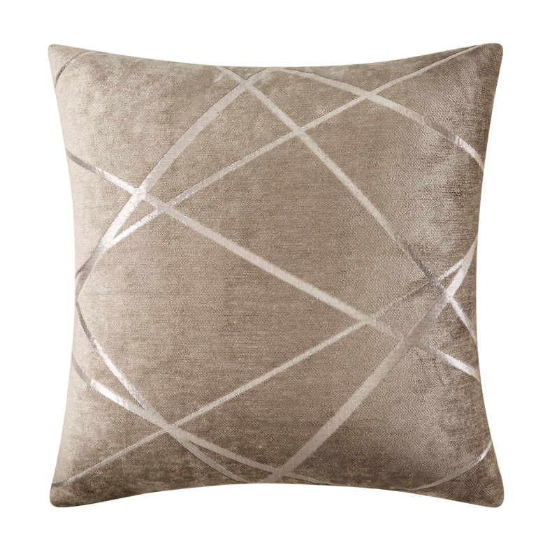 Gray Thick Geometric Pilow Case Covers SILVER JACQUARD High Quality <font><b>Pillowcase</b></font> Chenille 40*40/40*70/45*45/<font><b>50*70</b></font>/50*90cm WP293-30 image
