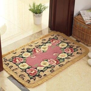 Image 5 - Romantic Flower Printing Carpet Bathroom Rug Mats, 1 PCS PVC Anti slip Bottom Bath Mat Carpet, Mats Rug In The Toilet alfombra
