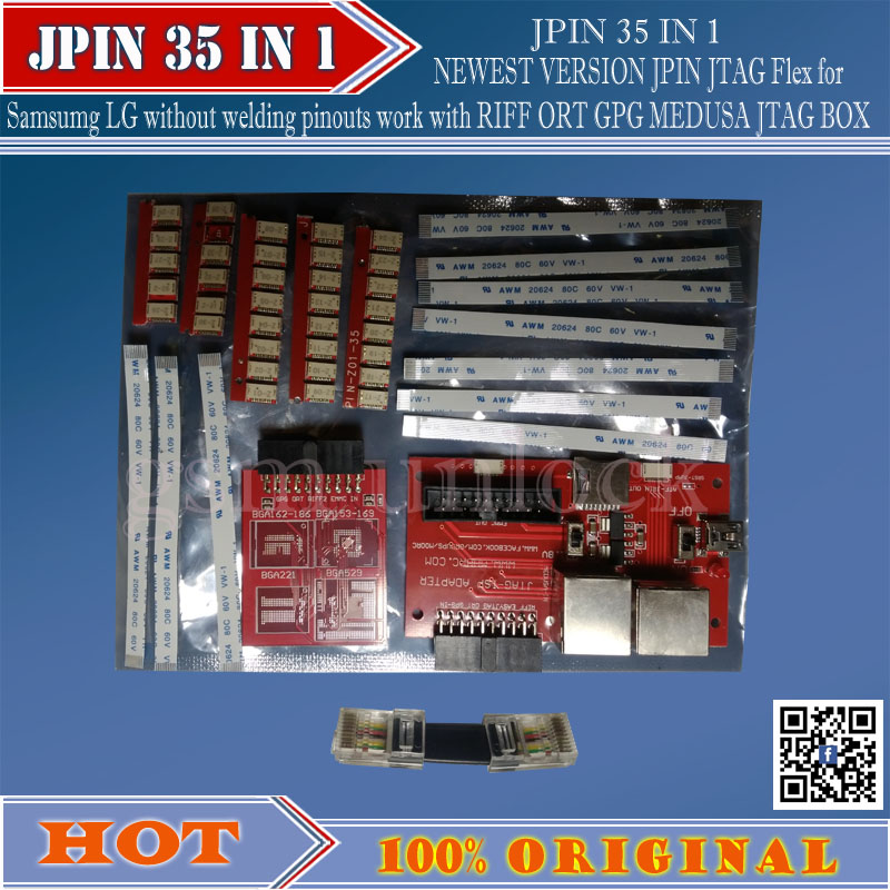 Gsmjustoncct nouveau 33 en 1 GPG gabarits faciles JPIN 33IN 1 pour Riff box, GPG Jtag Box, JTAG Box livraison gratuite