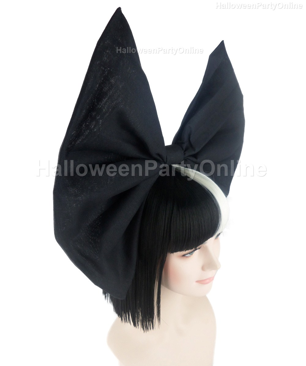 Fast Delivery) Halloween Party Online SIA Black & White Wig Small ...
