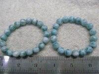 Großhandel Natur Larimar Stein, Larimar Perle Glatte Korn, Naturstein, halb Kostbare Perle, blaue Perle Larimar Armband 6-12mm
