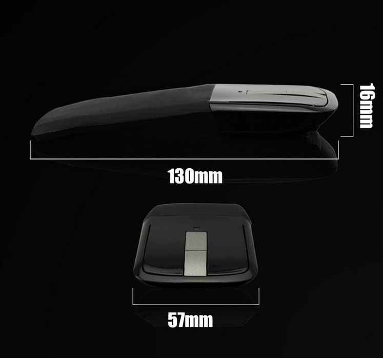 2.4Ghz Foldable Wireless Mouse With Folding Arc Touch for PC Laptop
