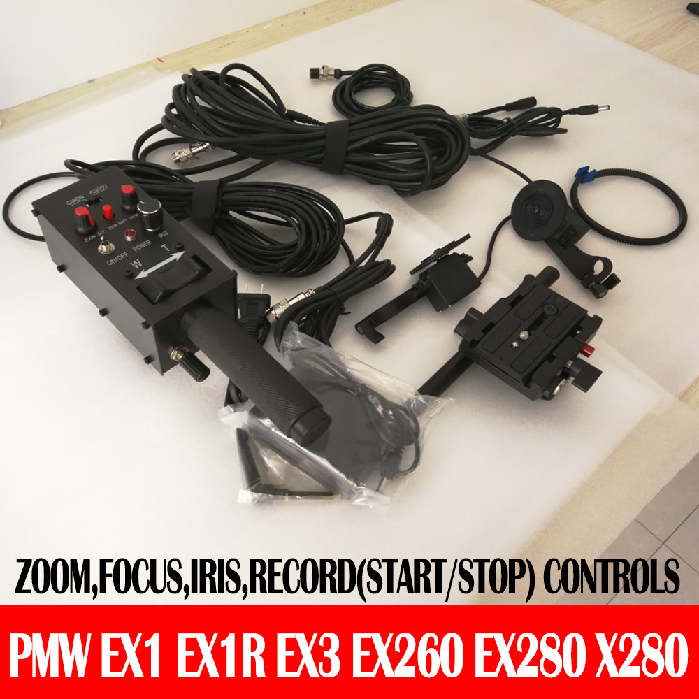 Pro Camcorder controller with REC iris focus zoom control for PMW EX1 EX1R EX3 EX260 EX280 X280 from SONY for Camera Jib Crane tripod handle camcorder eng lens controller with rec zoom control for lenses from fuji or canon professional broadcast camera