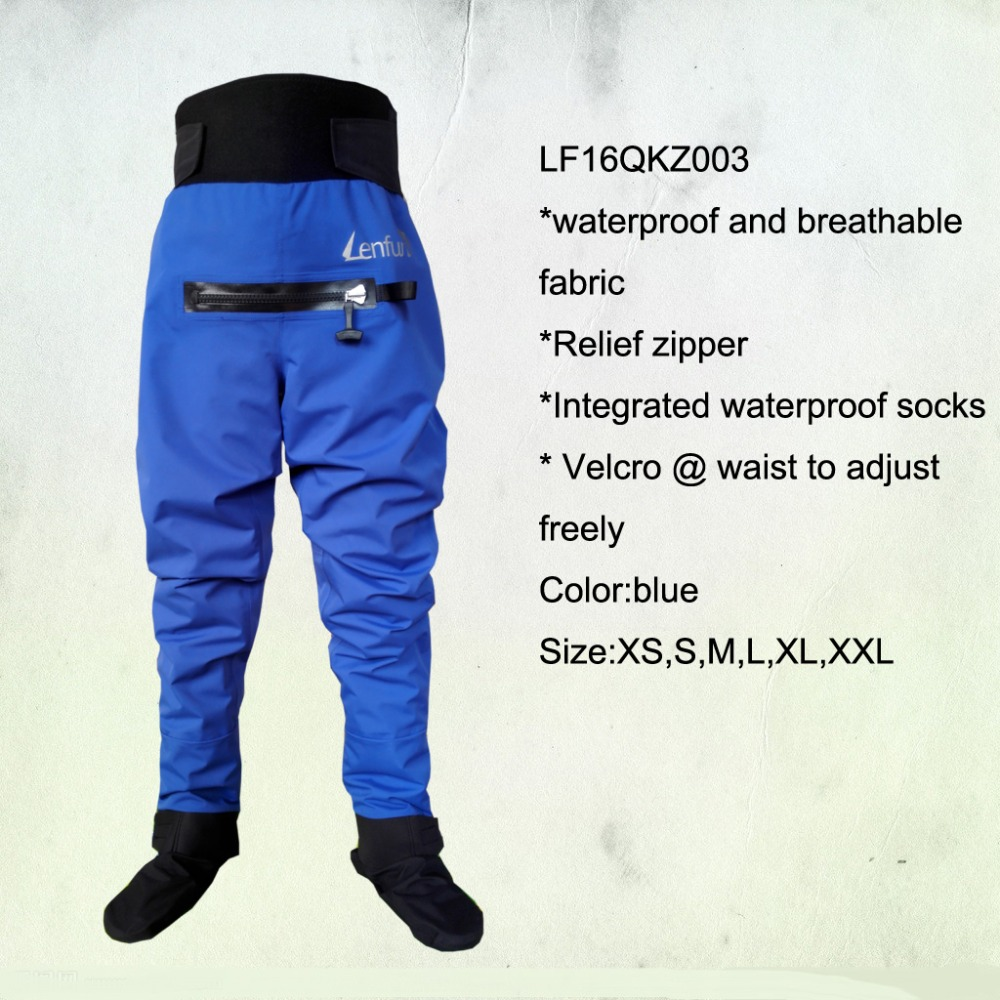 2016 unisex pants,dry pants with relief zipper socks,waterproof canoeing,paddle sailing,Kayaking ,Sea Kayak,Flatwater,Rafting