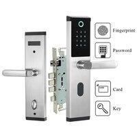 Secturity biométrico eletrônico fechadura da porta de impressão digital senha fechadura da porta keyless cartão fechadura da porta para casa escritório apartamento