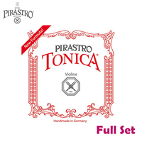 Pirastro Tonica/Gold Label 412021 4/4 Violin String Set Medium Gauge with Tonica A, D,G & Gold Label E Ball End