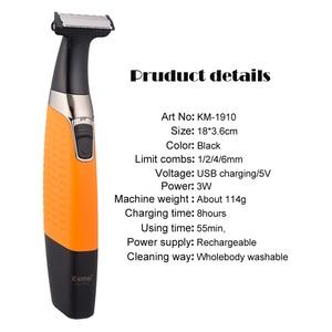 Image 2 - Kemei hair trimmer electric shaver hair cutting beard trimmer hair clipper man grooming tools water hair shaving machine