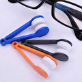 New Arrival Handle Eyeglass Sun Glasses Microfiber Spectacle Cleaner Clean Wipe Random Color