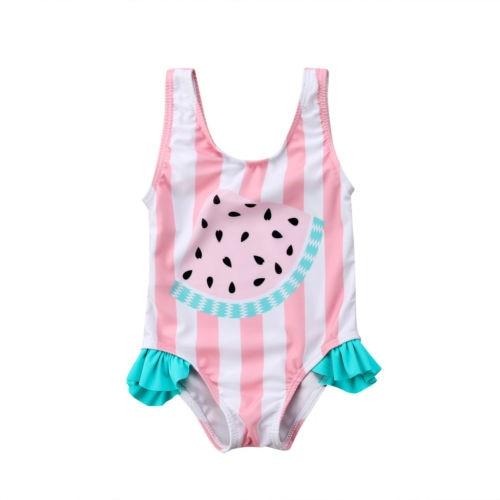 Newborn Kids Baby Girls Clothes Watermelon Swimsuit Swimwear Swimming Bikini Bathsuit Cotton Sleeveless Cute Baby Girl 0-3T fashion cute kids baby girls toddler bikini suit swimsuit swimwear bathing swimming girls beach clothes