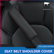 цена на 2pcs/pair Car Seat Belt Padding Interior Car Safety Belt Cover Shoulder Leather Pads Cushion Harness Automobiles   Accessories