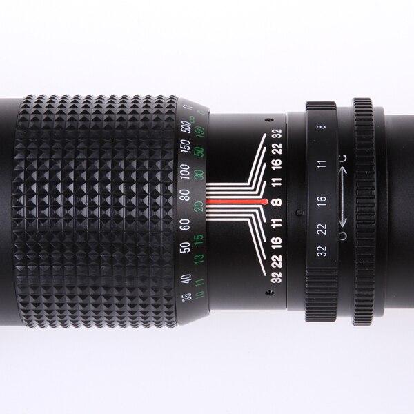 500mm F8.0 Telephoto Lens Manual Zoom with T-Mount for Nikon D7100 D810 D750 D760 D610 D7200 D5300 8