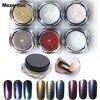 6 Color Set Shinning Mirror Nail Glitter Powder 1g Box Laser Chameleon Art Chrome Pigment Dust