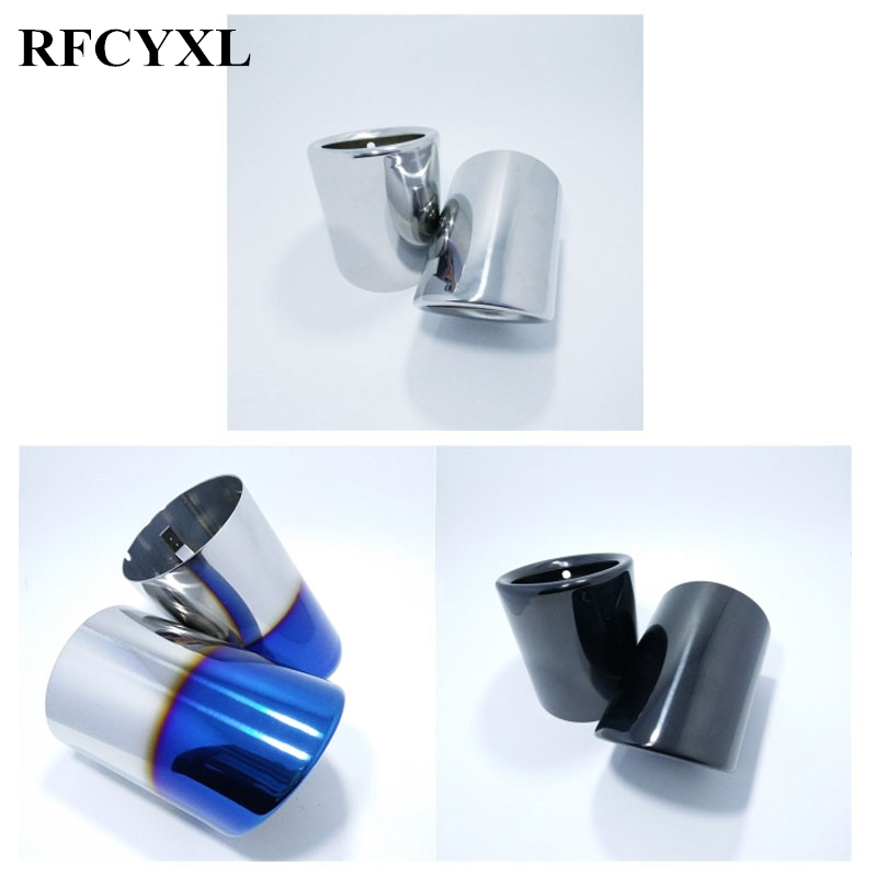 2Pcs 1Pair Car Styling Stainless Steel Automobiles Car Exhaust Muffler Tip pipe For Mazda 6 CX