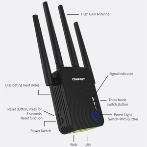 Image 2 - Двухдиапазонный повторитель Comfast, 1200 Мбит/с, 5 ГГц, 4 антенны