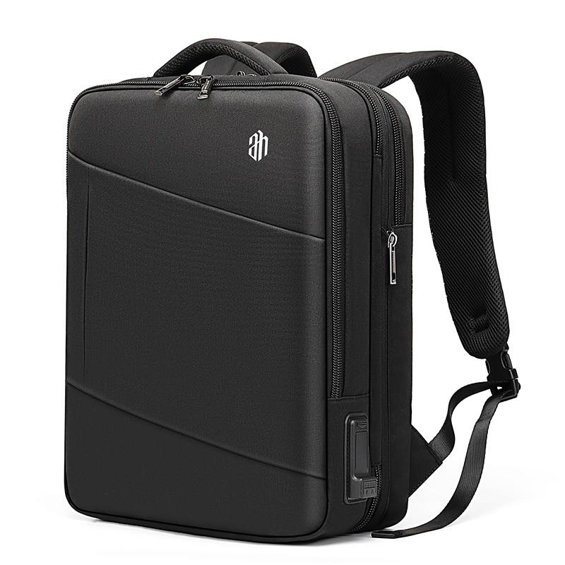 Hommes voyage sac à dos pour 15.6 pouces pochette d'ordinateur avec multifonction USB Port de charge extensible sacs à dos hydrofuge B00345